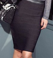 Panelled Pencil Skirt