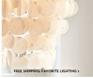 FREE SHIPPING: FAVORITE LIGHTING