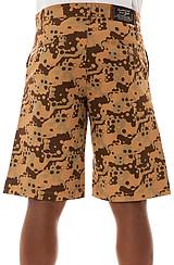 The Splatter Camo Twill Shorts in Khaki