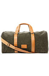 The Duffle Bag in Army Suede