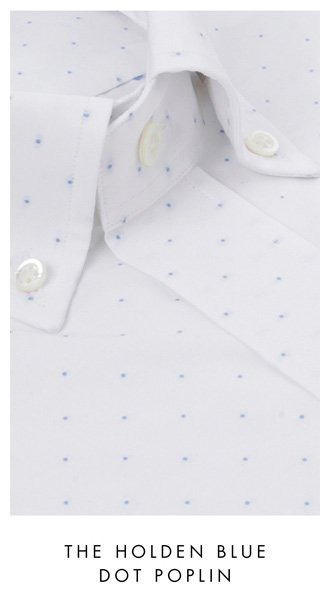 The Holden Blue Dot Poplin