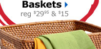 20% off Barrett Rattan Baskets