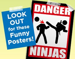 Lookout for these Funny Posters!