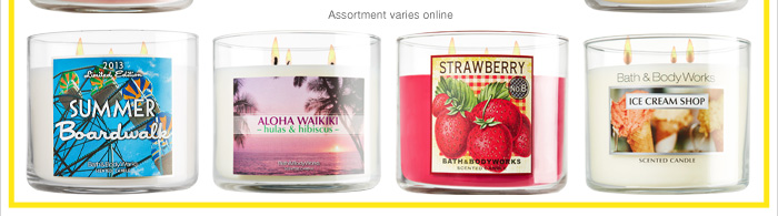 All 3-Wick Candles – $9*