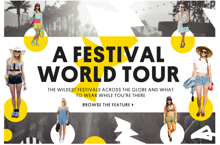 A festival world tour - Browse the feature