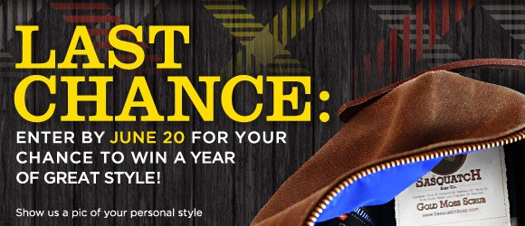 Last Chance: Enter by June 30 for your Chance to Win a Year of Great Style!