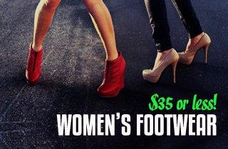Womens Footwear $35 & Under