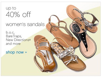 Women's Sandals up to 40% off. Shop now.