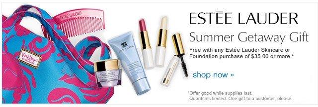 Estee Lauder Summer Getaway Gift. Shop Now.