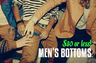 Men's Bottoms $30 & Under