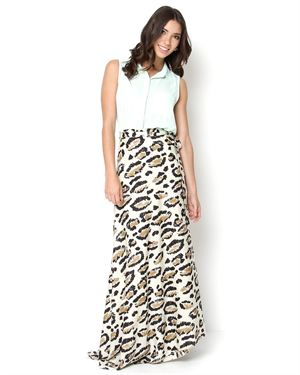 Von Vonni Printed Wrap Skirt - Made In USA