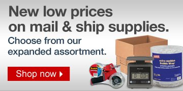 New low  prices on mail and ship supplies. Choose from our expanded assortment.   Shop now.