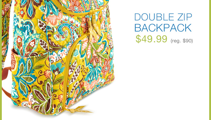 Double Zip Backpack - $49.99