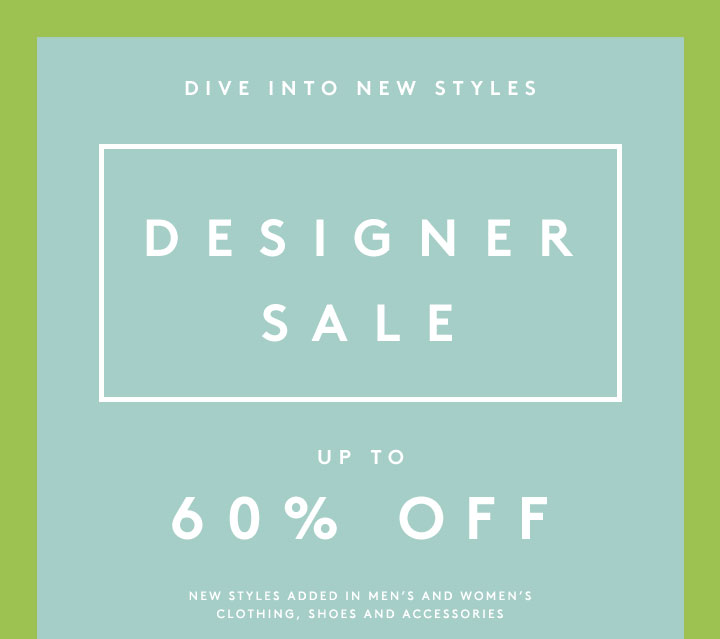 A designer sale that's to die for: Shop 60% off now!