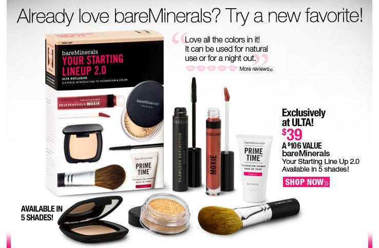 bareMinerals Your Starting Line Up 2.0 Available in 5 shades!