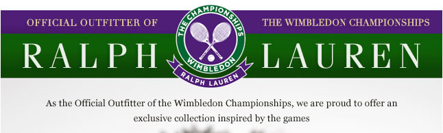 Official Outfitter of the Wimbledon Championships