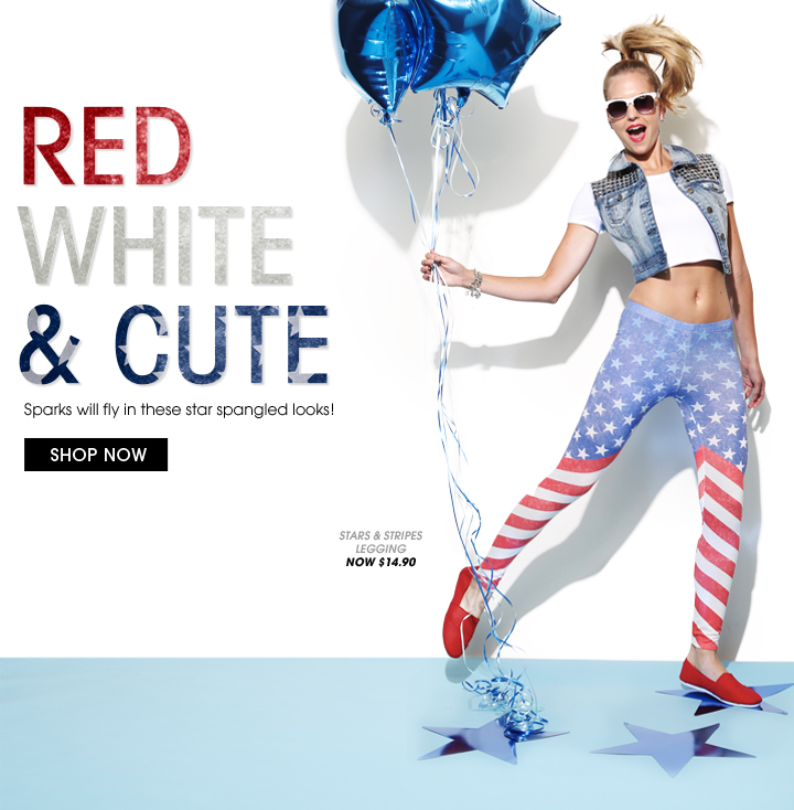 Shop Red White and Cute