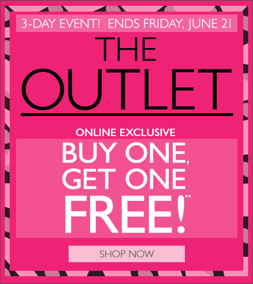 Online Only: The Outlet - Buy One Get One Free!