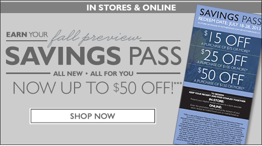 Fall Preview Savings Pass