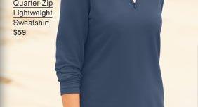 Quarter-Zip Lightweight Sweatshirt $59