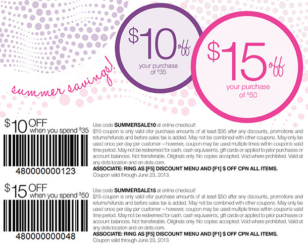 Summer Savings! Get $10 Off Your Purchase of $35 or $15 Off Your Purchase of $50!