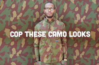 Camo Tees, Shorts, Accessories & More