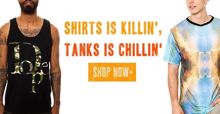 Top Sellin' Tees, Tanks, & Shorts