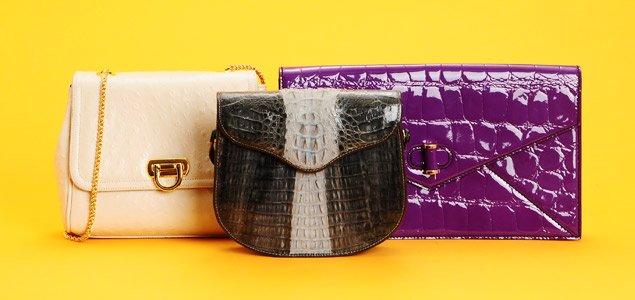Exotic Handbags by Fendi, Judith Leiber & More