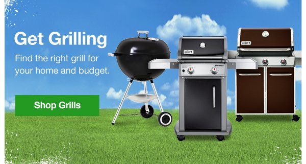 Get Grilling. Find the right grill for your home and budget. Shop Grills