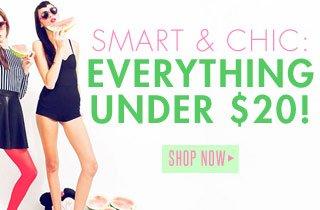 Smart & Chic: Styles Under $20