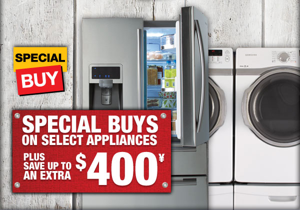 Special Buys on Select Select Appliances