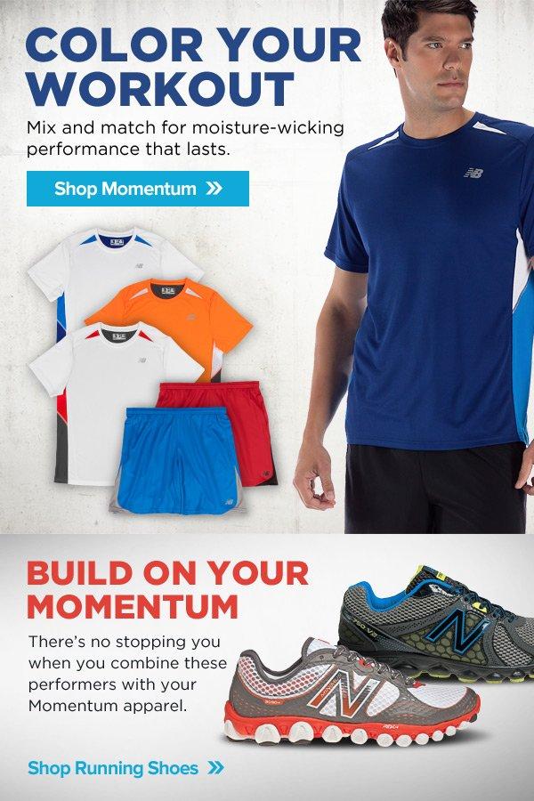 Color Your Workout. Shop Momentum