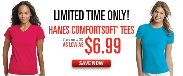 Hanes ComfortSoft Tees as low as $6.99