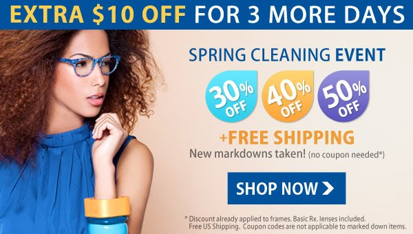 Extra $10 Off - Limited Time Offer!