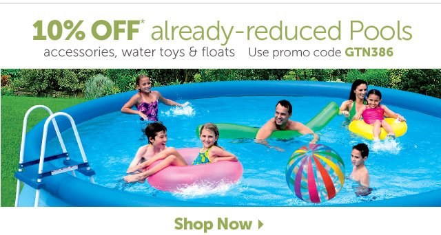 10% OFF Reduced Pools
