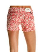 Miss Me Women's Fleur Print Cut Off Shorts