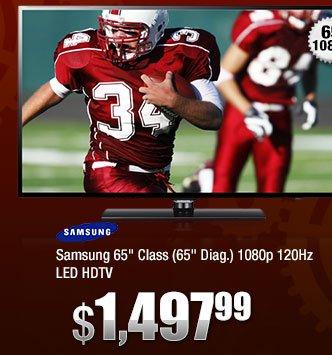 "Samsung 65"" Class (65"" Diag.) 1080p 120Hz LED HDTV"
