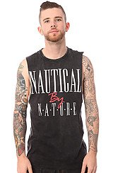 The Nautical By Nature Muscle Tee in Black Stone