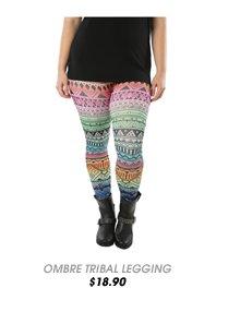 Rainbow Ombre Tribal Legging