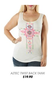 Aztec Twist Back Tank