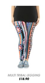 Multi Colored Tribal Leggings