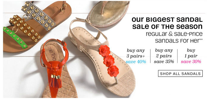 Out Biggest Sandal Sale of the Season. Shop All Sandals.