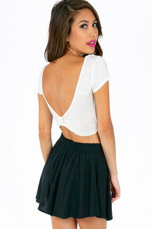SCOOPING BACK BOW CROP TOP 22