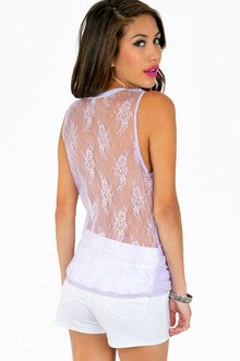 CROSS MY LACE BACK TOP 32