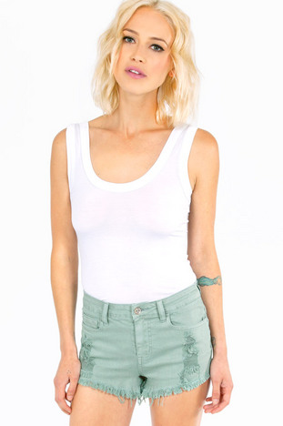 CALLING COLOR HIGH WAISTED SHORTS 35
