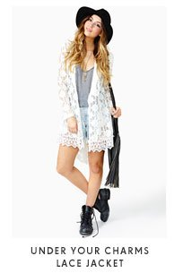 Under Your Charms Lace Jacket
