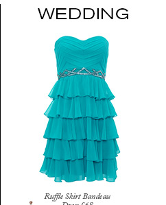 Ruffle Skirt Bandeau Dress