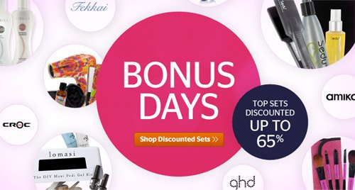 Bonus Days! Top Sets Discounted up to 65%