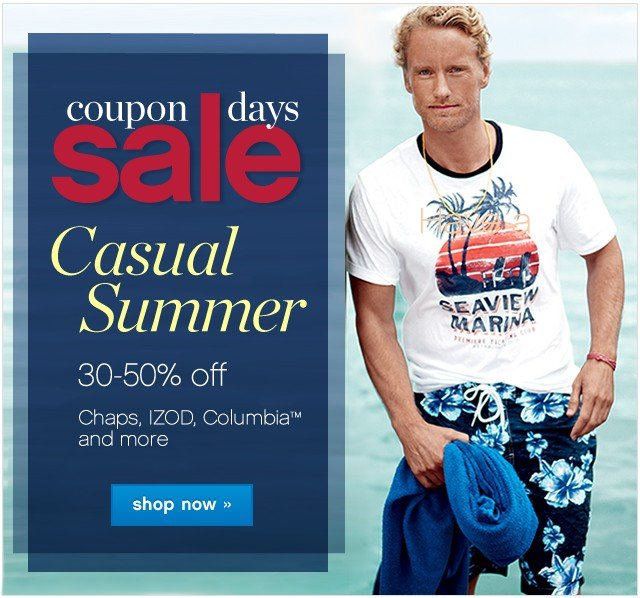 Coupon Days Sale. 30-50% off. Shop now.