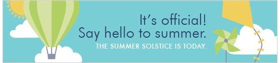 Summer Solstice is today!